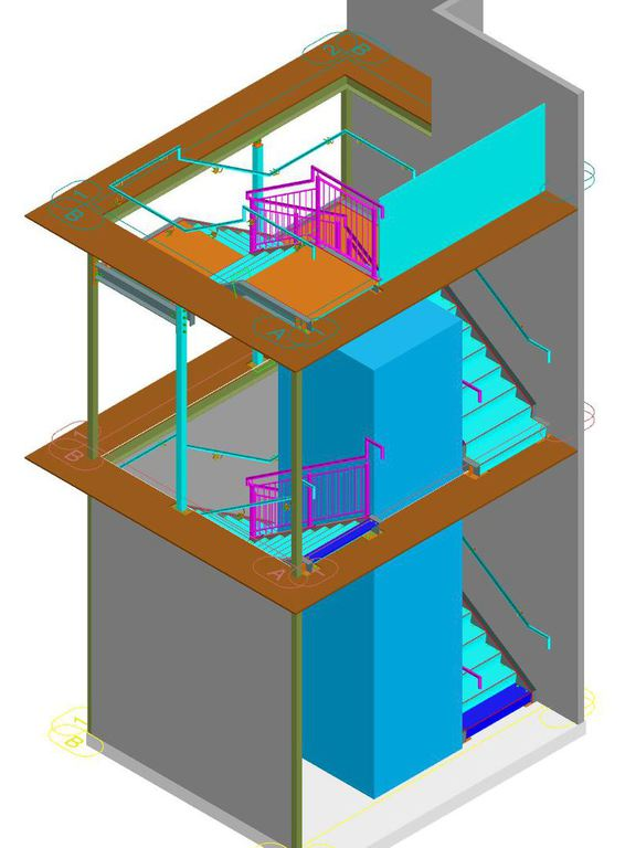Architectural Stairs, railings & balcony drawings